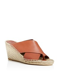Vince Suraya Espadrille Wedge Mule Sandals Whiskey