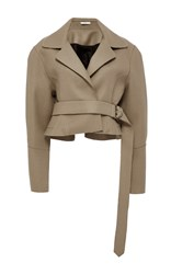 Tome Tailored Cropped Jacket Tan