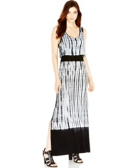 Kensie Dip Dye Maxi Dress Black Combo