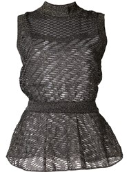 Missoni Sleeveless Blouse Black