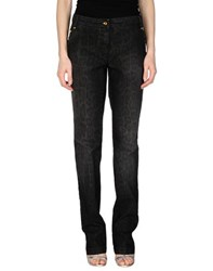 Class Roberto Cavalli Denim Denim Trousers Women Black