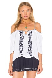 Band Of Gypsies Short Sleeve Open Shoulder Top White