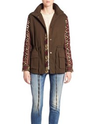 Love Sam Cargo Embroidered Military Jacket