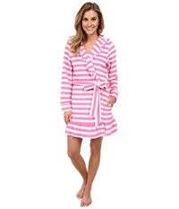 Betsey Johnson Vintage Terry Robe Mojito Stripe Sugar Daddy Women's Robe Pink