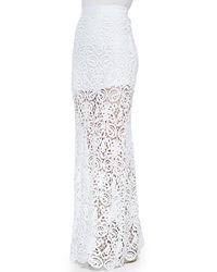 Miguelina Celine Fitted Crochet Maxi Skirt