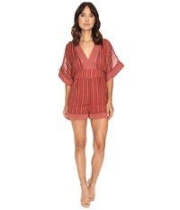 Adelyn Rae Woven Kimono Sleeve Romper Dusty Rose Women's Jumpsuit And Rompers One Piece Pink