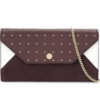 Maje Sly Leather And Suede Wallet Multi Coloured