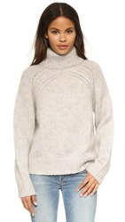 Raquel Allegra Turtleneck Pullover Sweater Oatmeal