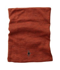Smartwool Nts Mid Reversible Pattern Neck Gaitor Moab Rust Heather Scarves Red