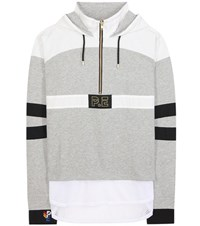 P.E Nation Number 1 Cotton Jersey Hoodie Grey