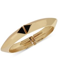 Inc International Concepts M. Haskell For Gold Tone Triangle Stone Hinged Bangle Bracelet Only At Macy's Black