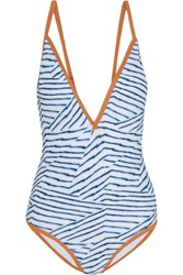 Vix Swimwear Dune Printed Swimsuit Light Blue