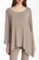 Planet Matte Jersey Asymmetrical Tee Brown