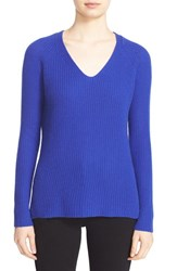 Autumn Cashmere Women's Shaker Stitch V Neck Sweater Pennant