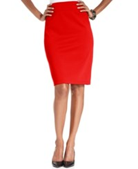 Styleandco. Style And Co. Pull On Ponte Knit Pencil Skirt New Red Amore