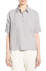 Women's Eileen Fisher Organic Linen Elbow Sleeve Shirt