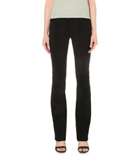 J Brand Brya Bootcut Mid Rise Suede Jeans Black