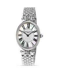 Frederique Constant Art Deco Oval Stainless Steel Watch 30 X 25Mm