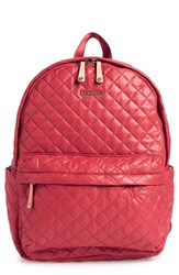 M Z Wallace Mz Wallace 'Metro' Quilted Oxford Nylon Backpack Red Poppy