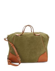 Cole Haan Ellery Suede Satchel Fatigue