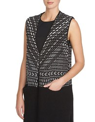 1.State Sleeveless Jacquard Cardy Vest Black Multi