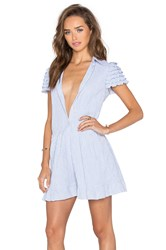 Red Valentino Chambray Romper Blue