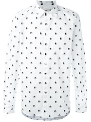 Paul Smith Ps By Heart Print Shirt White