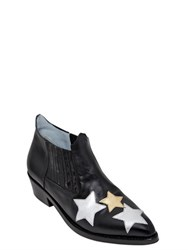 Chiara Ferragni 30Mm Stars Leather Ankle Boots