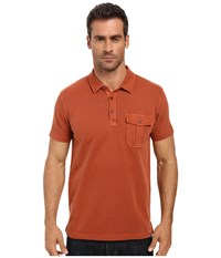 Lucky Brand Short Sleeve Polo Picante Men's Clothing Red