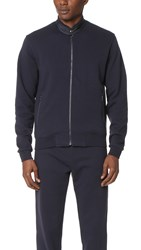 Z Zegna Full Zip Sweatshirt Navy
