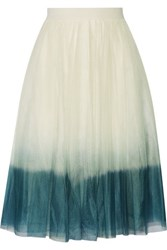Bailey 44 Degrade Tulle Skirt White