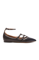 Givenchy Piper Elegant Stud Leather Ballerina Flats In Black