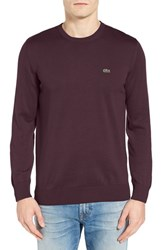 Lacoste Men's Jersey Crewneck Sweater Vendange Purple