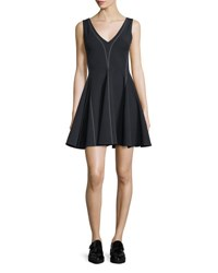 Opening Ceremony William Penn Sleeveless Ponte Circle Dress Black