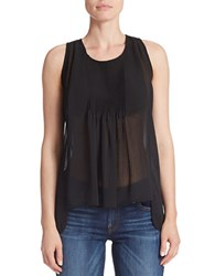 Guess Georgette Trapeze Tank Top Jet Black