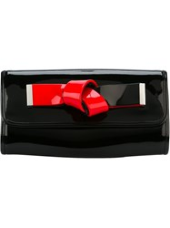 Giorgio Armani Knot Handle Clutch Black