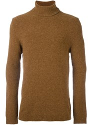 Laneus Turtleneck Long Fit Jumper Brown