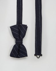 Noose And Monkey Bow Tie Wool Navy