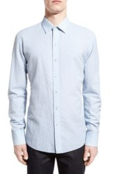 Men's Zachary Prell 'Elogan' Trim Fit Seersucker Stripe Sport Shirt
