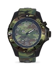 Kyboe Stainless Steel Camo Strap Watch