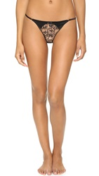 Myla House Silk And Embroidery Thong Black Black