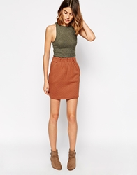 Le Mont St Michel Quilted Skirt Brick