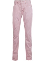 Hudson 'Blake' Slim Straight Jeans Pink And Purple