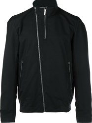 Christian Dior Homme Double Zip Bomber Jacket Blue