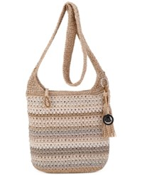 The Sak Casual Classics Crochet Crossbody Sand Stripe