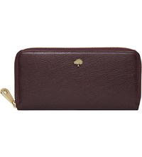 Mulberry Tree Glossy Goat Leather Wallet Oxblood