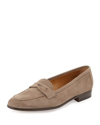 Suede Penny Loafer Taupe Gravati