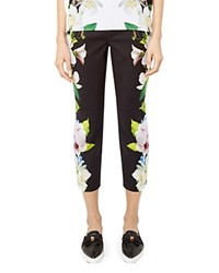 Ted Baker Galla Forget Me Not Cropped Pants Black