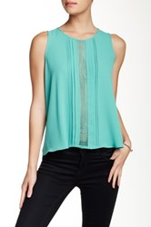 Lush Sleeveless Open Back Tunic Blue
