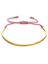 Ottoman Hands Golden Dusty Pink Cord Bracelet